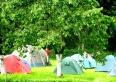 ogród z możliwością rozbicia namiotów