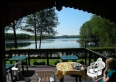 Widok z tarasu na jezioro Probark