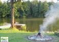 ognisko zaledwie 2 m od jeziora