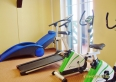 Pomieszczenie fitness z widokiem na Puszczę Piską