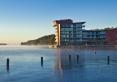 Widok hotelu od strony plaży miejskiej